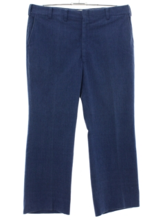 1970's Mens Flared Brushed Denim Pants