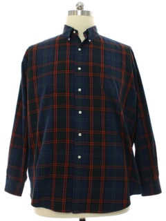 1980's Mens Ralph Lauren Plaid Flannel Sport Shirt