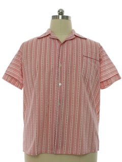 1960's Mens PJ Top Sport Shirt