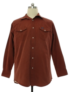 1980's Mens Heavy Cotton Western Shirt