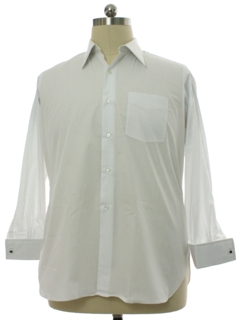 1950's Mens Custom Solid French Cuff Shirt