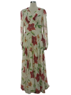 1940's Womens Fab Forties Maxi Prom Dress