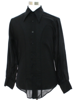 1970's Mens Mod Peacock Revolution Style Shirt