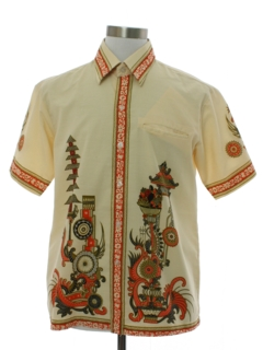 1960's Mens Mod Asian Style Shirt