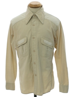 1970's Mens Western Hunting Style Shirt