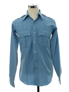 1970's Mens Uniform Safari Style Shirt