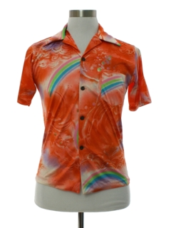 1970's Mens Print Disco Hawaiian Inspired Shirt