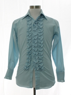 1970's Mens or Boys Ruffled Tuxedo Shirt