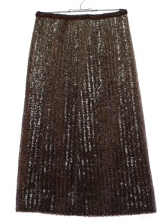 1960's Womens Givenchy Couture Sequined Cocktail Skirt