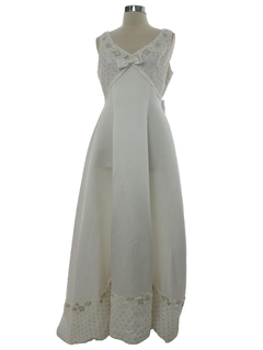 1990's Womens White Wedding dress