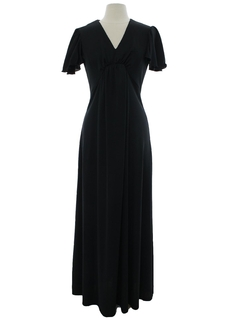 1970's Womens A-Line Knit Maxi Dress