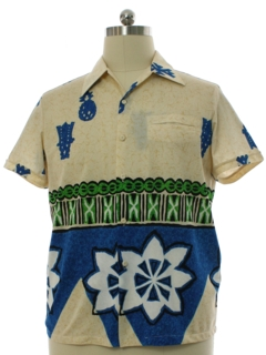 1960's Mens Mod Malihini for Liberty House Hawaiian Shirt