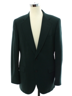 1980's Mens Hunter Green Wool Blazer Style Sport Coat Jacket