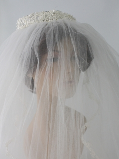 1970's Womens Accessories - Wedding Veil Hat