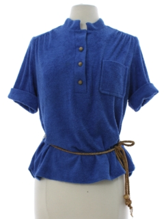 1970's Womens Terry Cloth Knit Shirt