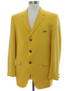 1960's Mens Mod Hertz Rental Car Company Blazer Sport Coat Jacket