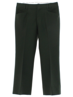 1970's Mens Forest Green Flared Leisure Pants