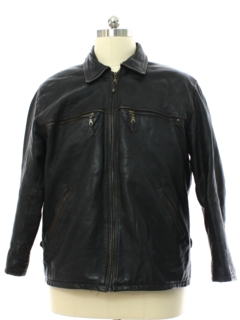 1990's Mens Biker Style Leather Jacket