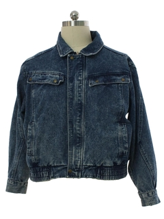 1980's Mens Totally 80s Grunge Denim Jacket