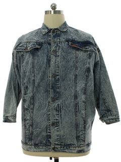 1980's Mens Totally 80s Jordache Grunge Denim Jacket