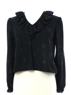 1970's Womens Glittery Cocktail Style Shirt