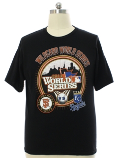 1990's Mens 2014 World Series KC vs Giants Baseball Sports T-Shirt