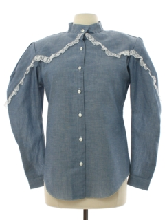 1980's Womens Totally 80s H Bar C Western Prairie Shirt
