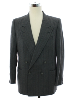 1980's Mens Nino Cerruti Designer Totally 80s Double Breasted Blazer Sportcoat Jacket