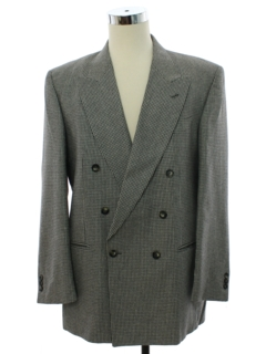 1980's Mens Designer Vito Rufolo Totally 80s Double Breasted Blazer Sportcoat Jacket