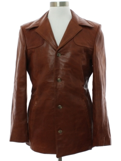 1970's Mens Deuce Style Leather Leisure Jacket
