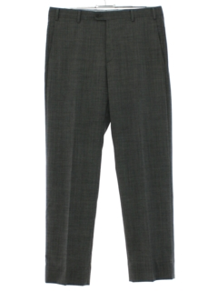 1980's Mens Totally 80s Italian Wool Flat Front Slacks Pants