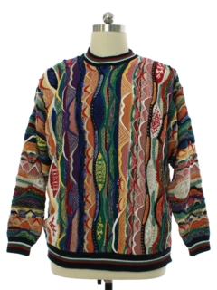 1980's Mens Totally 80s Look Cotton Traders Coogi Inspired Cosby Style Sweater