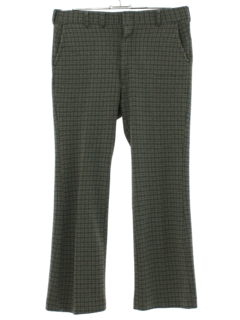 1970's Mens Plaid Disco Pants