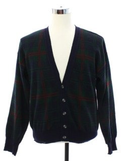 1980's Mens Cardigan Golf Style Sweater