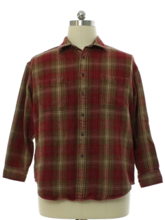1990's Mens Heavy Cotton Flannel Shirt