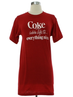 1970's Womens Coca Cola Coke Adds Life T-shirt