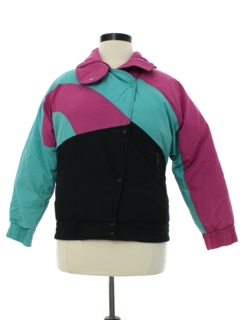 1980's Womens Totally 80s Edelweiss Down Ski Jacket