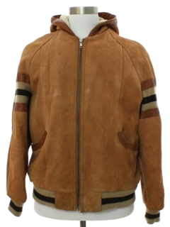 1980's Mens Grunge Suede Leather Jacket