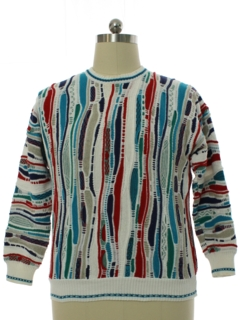 1980's Mens Cotton Traders Coogi Inspired Cosby Style Sweater