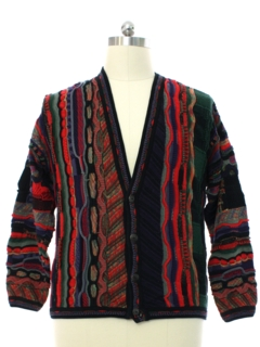 1990's Mens Coogi Inspired Cosby Style Cardigan Sweater