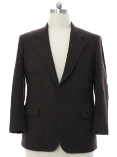 1980's Mens Wool Blazer Style Sport Coat Jacket