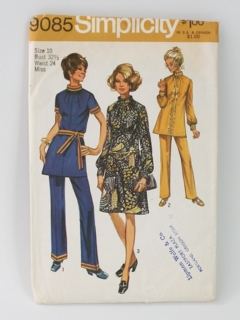 Style Women/'s Craft 2323 Supply 1970s Set of Two Dresses Size 16 UK Beginner Vintage Sewing Pattern Easy Seventies