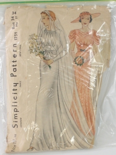 1940's Womens Bridal Pattern