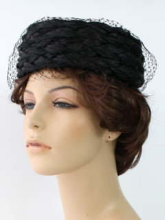 1960's Womens Accessories - Pillbox Hat