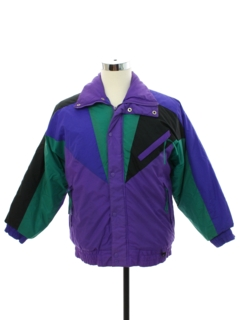 1980's Mens Totally 80s Green Mountain Ski Jacket