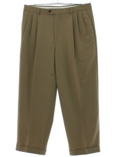 1980's Mens Totally 80s Style Pleated Slacks Pants