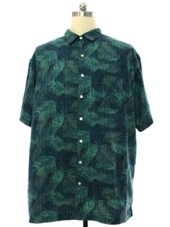 1990's Mens Drapey Rayon Hawaiian Shirt