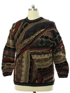 1990's Mens Wicked 90s Coogi Inspired Cosby Style Sweater