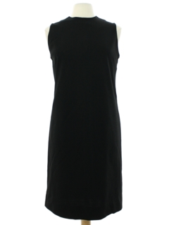 1960's Womens Mod Little Black Dress