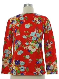 1960's Womens or Girls Mod Pow Flower Hippie Shirt
